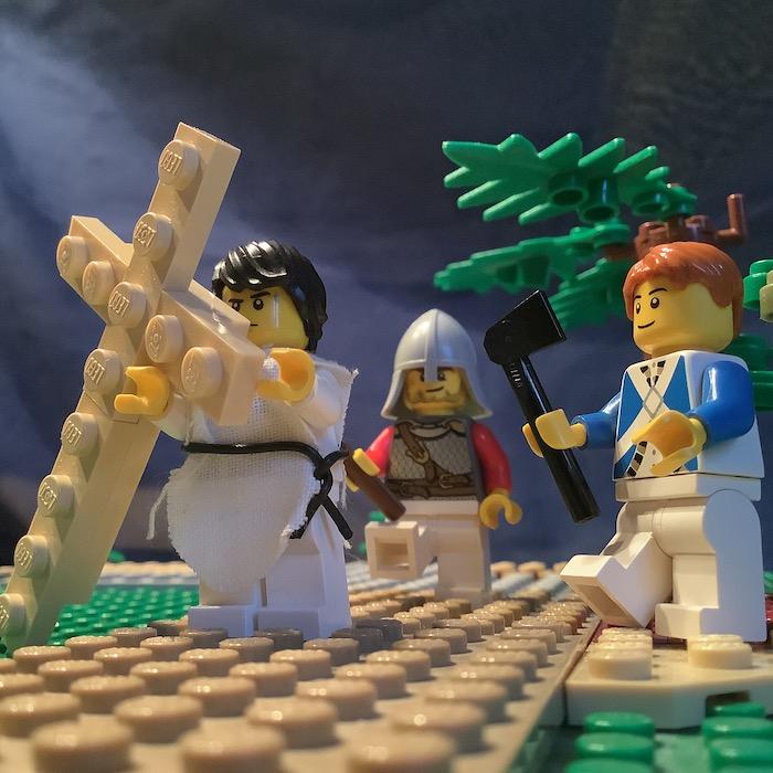 2. Station: Jesus nimmt das Kreuz auf seine Schultern (Rasmus)