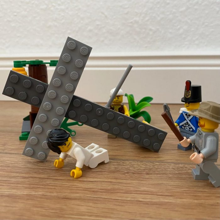 7. Station: Jesus fällt zum zweiten Mal unter dem Kreuz (Bruno)