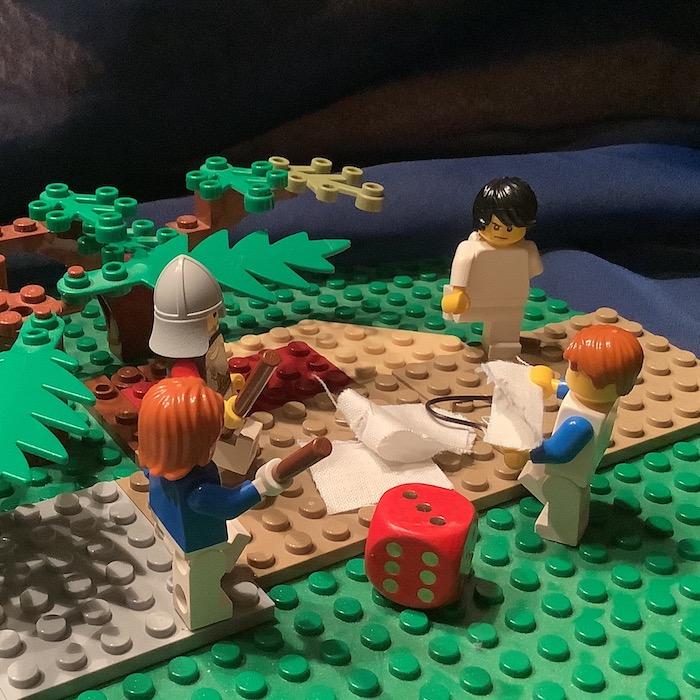 10. Station: Jesus wird seiner Kleider beraubt (Rena)